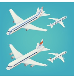 Passenger airplane isometric passenger airliner vector