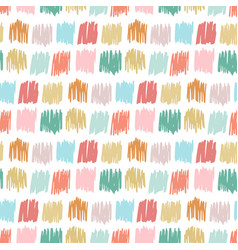 Primitive seamless pattern with freehand squares vector