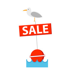 sale sign with bird icon vector image vector image