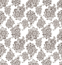 Seamless pattern with floral doodle elements vector