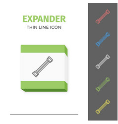 simple line stroked handle expander icon vector image