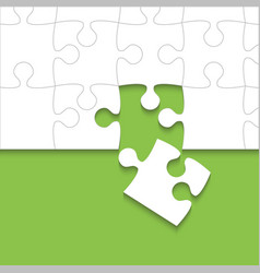 Some white puzzles pieces green - jigsaw vector