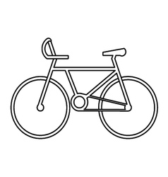 sport bicycle symbol vector image