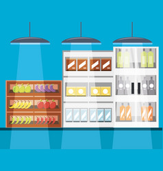 supermarket shelves icon vector image