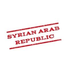 Syrian Arab Republic Watermark Stamp vector image