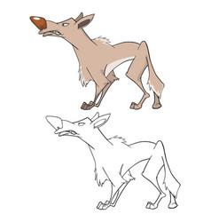 Wolf cartoon character vector