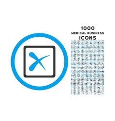 Reject rounded icon with 1000 bonus icons vector