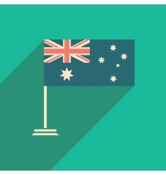 Flat icon with long shadow flag of australia vector