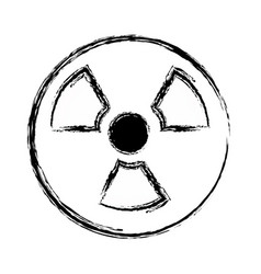 Figure radiation symbol to dangerous and ecology vector