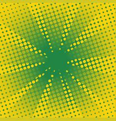 Retro rays comic yellow green background vector