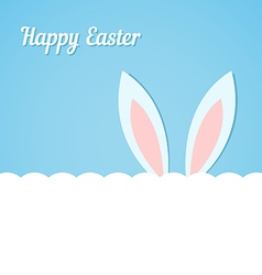 Rabbit ears easter banner vector