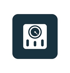 Fitness scales icon rounded squares button vector