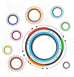 496colorful circle background vector
