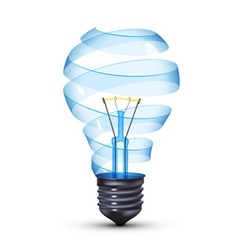 Black light bulb vector