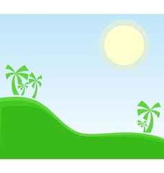 Tropic landscape with palm vector