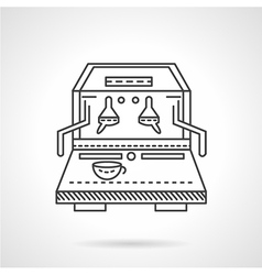 Flat line coffee machine icon vector