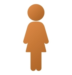 Standing girl gradient icon vector