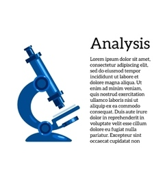 Blue microscope on a white background vector