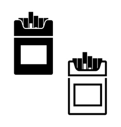 Black cigarettes icon vector