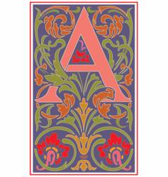 Victorian letter a vector