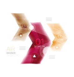 Air light glossy design of arrows Web info box or vector image vector image