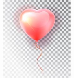 balloon pink heart set symbol of love gift vector image