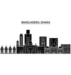 Bangladesh dhaka architecture city skyline vector