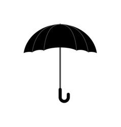 Black umbrella isolated accessory of rain on vector