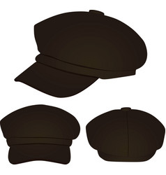 brown stylish cap vector image vector image