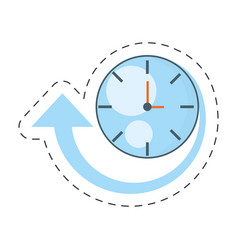Clock time delivery worldwide vector