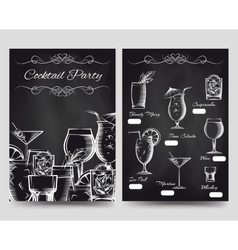 Cocktail party brochure flyers templater vector image vector image