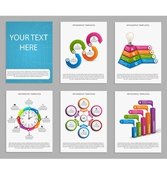 Collection of colorful infographics design vector