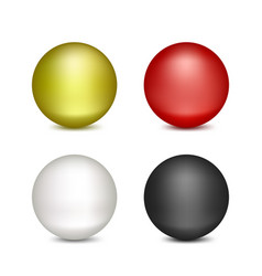 colored balloons on a white background vector image vector image