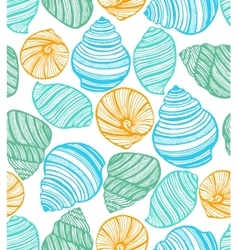 colorful background with seashells vector image