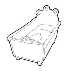 Cradle icon isometric 3d style vector image vector image