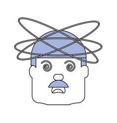 Crazy man cartoon vector