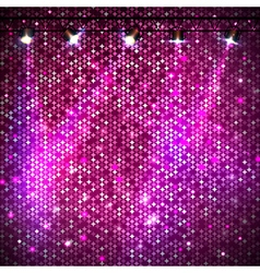 Disco abstract pink neon background vector image