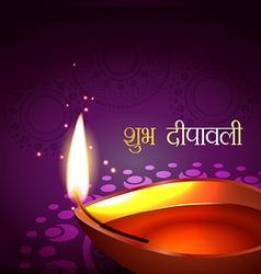 diwali festival greeting vector image