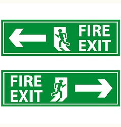 Fire exit 2 vector