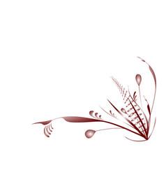 Flourish plants red vector