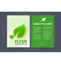 Flyer template - ecological product vector image