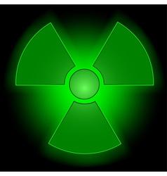 Glowing radioactive symbol vector image vector image