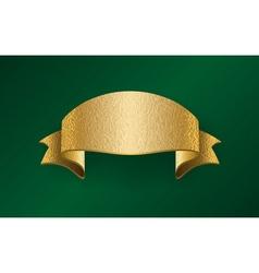 Golden foil ribbon blank vector