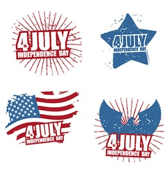 Grunge sign for independence day in america star vector