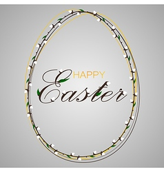 happy easter text vector image vector image