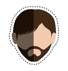 Head man isolated icon vector