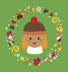 Holiday with cute girl vector image vector image