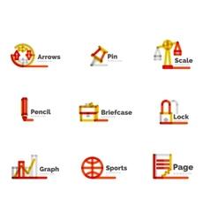 Line minimal design logo collection vector