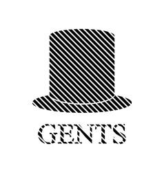 Male restroom symbol sign vector