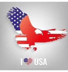 National usa symbol eagle with an official flag vector